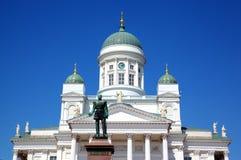Tuomiokirkko Cathedral church in Helsinki Royalty Free Stock Photo
