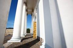 Tuomiokirkko white post Royalty Free Stock Image