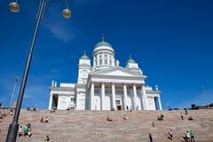 Tuomiokirkko church in Helsinki, Finland Stock Photos