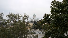 Tuomiokirkko church in Helsinki. A view of Tuomiokirkko, the white lutheran church in Helsinki Stock Photo
