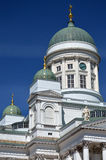 Tuomiokirkko da catedral ou do Helsingin de Helsínquia Fotos de Stock
