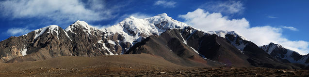 Tuomuer mountains. China's western mountain scenery photography, photography, 4300 meters above sea level Stock Image