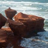 Tuoni la spiaggia della baia nell'isola di principe Edward nel Canada Fotografia Stock Libera da Diritti