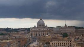 Tuono sopra la basilica Immagini Stock