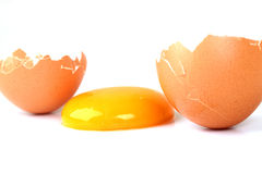 Tuorlo d'uovo Fotografie Stock