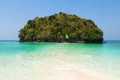 Tup Island  beach between Phuket and Krabi in Thailand Stock Photos
