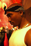 Tupac Shakur Wax Figure. A wax figure of rapper and actor Tupak Shakur at Madame Tussauds in New York City Stock Images