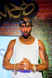 Tupac Shakur wax figure at Madame Tussauds San Francisco. Wax figure of Tupac Shakur at Madame Tussaud, San Francisco Stock Photos