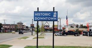 Tupelo, centro de la ciudad histórico de Mississippi fotos de archivo
