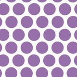 Tupfenhintergrund, nahtloses Muster Purpurroter Punkt auf weißem Hintergrund Vektor Stockbild
