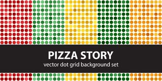 Tupfenmuster gesetzte Pizza-Geschichte Nahtloser geometrischer Punkt des Vektors Stockbild