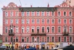 Tupikov有益的房子在涅夫斯基大道的在圣彼得堡,俄罗斯 免版税图库摄影