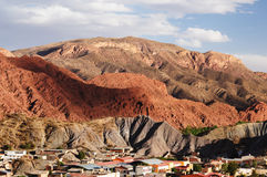 Tupiza - beautifull city landscape in Bolivia. Tupiza - the most beautifull ciy view in Bolivia. The landscape are full of colored rock, hills, mountains and Royalty Free Stock Photography