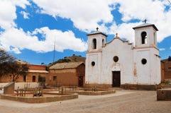 Tupiza - platteland in Bolivië stock foto's