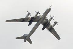 Tupolev stratégique Tu-95 de bombardier de Soviétique Images libres de droits