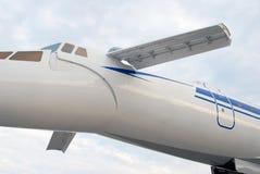 Tupolev supersonico russo Tu-144 dell'aeroplano. immagine stock