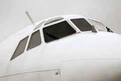 tupolev tu носа крупного плана 154m Стоковые Фотографии RF