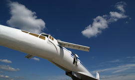 The Tupolev Tu-144 (NATO name: Charger). Was a Soviet supersonic transport aircraft, similar to the concord stock photos
