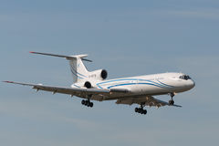 Tupolev TU-154 αεροσκάφη αεριωθούμενων αεροπλάνων Στοκ εικόνα με δικαίωμα ελεύθερης χρήσης