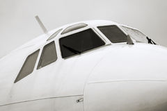 Tupolev Tu-154M nose closeup. Russian Tupolev Tu-154M nose closeup Royalty Free Stock Photos