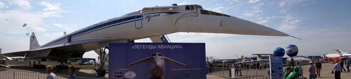 Tupolev Tu-144 zdjęcie stock