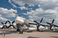 The Tupolev Tu-95 Royalty Free Stock Photo