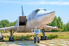 Tupolev Tu-22 aircraft on exhibition at Zhuliany State Aviation Museum in Kyiv, Ukraine Royalty Free Stock Image