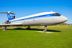 The Tupolev Tu-154 aircraft royalty free stock photography