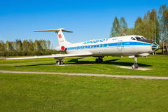 The Tupolev Tu-134 aircraft stock photos