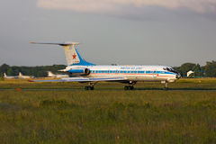 Tupolev Tu-134AK takeoff. Tupolev Tu-134AK airplane is taking off for takeoff, Rostov-on-Don, Russia, June 27, 2011 Royalty Free Stock Photography