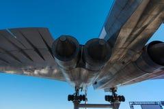 Tupolev TU-144D υπερηχητικό στοκ φωτογραφία
