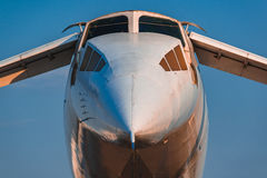 Tupolev Tu-144 em MAKS Airshow 2015 Imagens de Stock