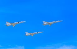 3 Tupolev Tu-22M3 (Backfire) supersonic Stock Photos