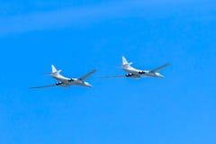 2 Tupolev Tu-22M3 (malogro) s supersônico Fotografia de Stock Royalty Free