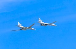 2 Tupolev Tu-22M3 (petardeo) Foto de archivo libre de regalías