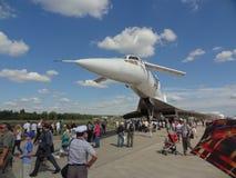 Tupolev Tu-144, naddźwiękowy samolot od Rosja obrazy stock