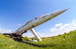 Tupolev Tu-144 plane was the first in the world commercial supersonic transport aircraft Stock Photo