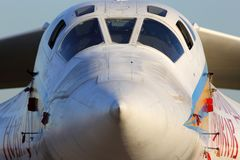 Tupolev TU-160 RF-94109 της ρωσικής Πολεμικής Αεροπορίας που στέκεται σε Zhukovsky κατά τη διάρκεια maks-2015 airshow Στοκ φωτογραφίες με δικαίωμα ελεύθερης χρήσης