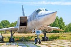 Tupolev Tu-22 samolot na wystawie przy Zhuliany stanu lotnictwa muzeum w Kyiv, Ukraina Obraz Royalty Free