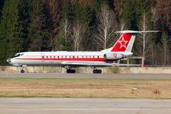 Tupolev Tu-134SH de l'Armée de l'Air russe se tenant chez Chkalovsky Image libre de droits