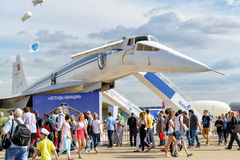 The Tupolev Tu-144 soviet supersonic airliner Royalty Free Stock Image
