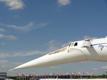 Tupolev Tu-144, supersonic plane from Russia Stock Photography