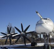 Tupolev Tu-95 sur le musée d'aviation de l'Ukraine, Poltava Photographie stock