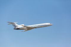 Tupolev TU-154 take off from runway Stock Photos