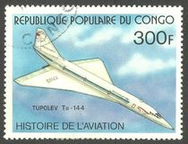 Tupolev Turkije-144 Royalty-vrije Stock Afbeelding