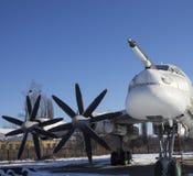 Tupolev Turkije-95 op de Luchtvaartmuseum van de Oekraïne, Poltava Stock Fotografie