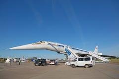 Tupolev Turkije-144 vliegtuig Royalty-vrije Stock Afbeelding