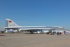 Tupolev Turkije-144 vliegtuig Stock Foto