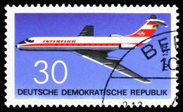 Tupolew TU-134, Luftfahrt serie, circa 1969 stockbild