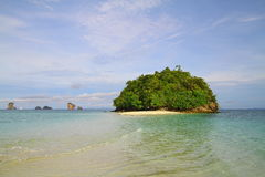 Tupp ö - Krabi - Thailand Royaltyfri Foto